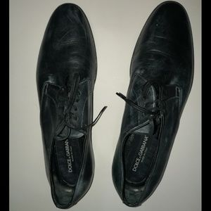 Dolce and Gabbana Men's Shoes Black Leather size 8